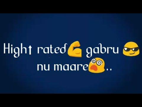 High Rated Gabru - Guru Randhawa WhatsApp Status song | swag video status