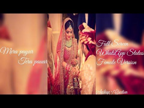 Mera Pyar Tera Pyar Female Version Full Screen WhatsApp Status | Swag Video Status