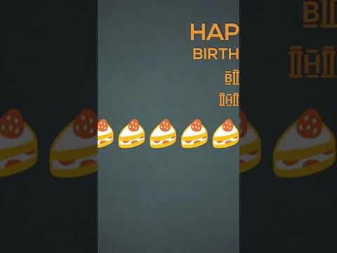 happy birthday status 30 sec tera happy birthday song full screen whatsapp status | Swag Video Status