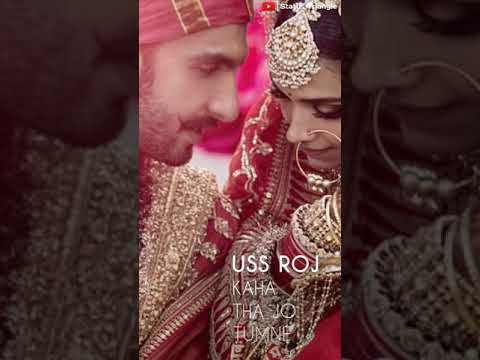 Ranveer Singh And Deepika Padukone Wedding Whatsapp Status Video-Tum Mere Ho-New Full Screen Status | Swag Video Status
