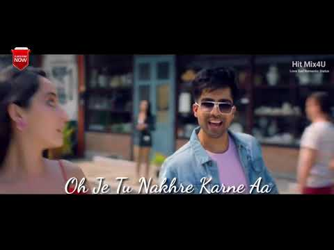 Naah - Hardy Sandhu - Punjabi Song | Romantic Emotional Unplugged Lyrical Whatsapp Status Video | Swag Video Status