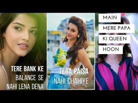Tere Bank Ke Balance Se Nahi Lena Dena | Full Screen Status Love || Female Version || Romantic Status | Swag Video Status