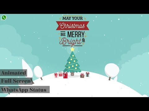 Christmas WhatsApp Status | Full Screen status | Fully Animated | Swag Video Status