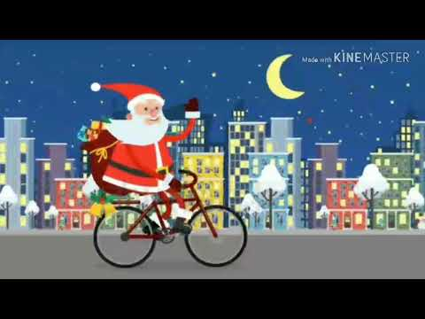 Santa On Cycle | Christmas status for whatsapp|Happy new year status for whatsapp | Swag Video Status