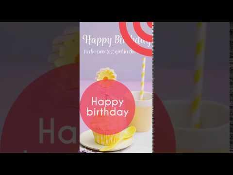 Happy Birthday Full Screen WhatsApp Status in Hindi   Swag Video Status