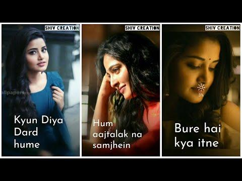 Kyu Diya Dard Hame | Heart touching Sad Full Screen Whatsapp Status Female Version | Sad female song Whatsapp Status | Swag Video Status