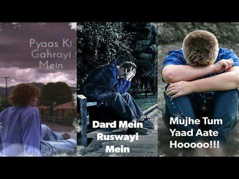 Mujhe Tum Yaad Aate Ho | Full Screen Status Sad | Dard Bhari Status | Full Screen Status | Swag Video Status