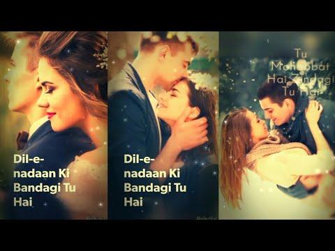Dil e nadan ki bandagi tu hai | Full Screen Status Love | Deep Love Whatsapp Status | Swag Video Status