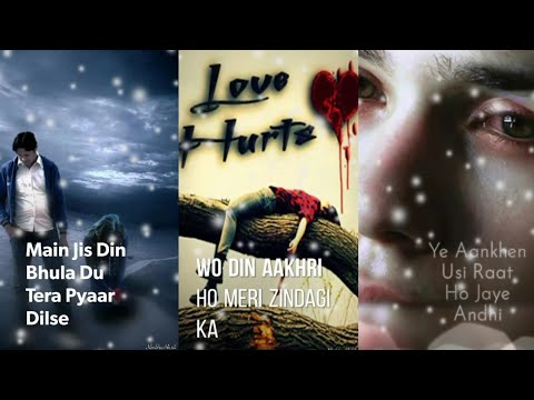 Main Jis Din Bhula Du | Full Screen Status Sad | Love Hurts Status | Heart Touching Status | Swag Video Status