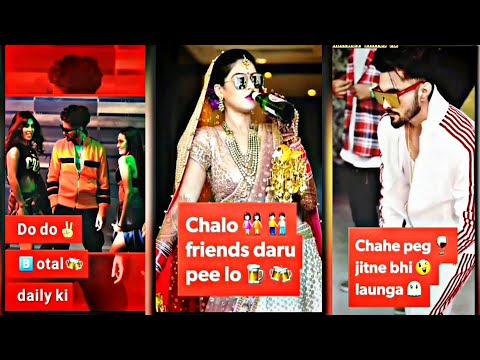 Helloo  friends Daruu  Pee Lo| B Jay Randhawa New Full Screen Whatsapp Status Letest video 2019 | Swag Video Status