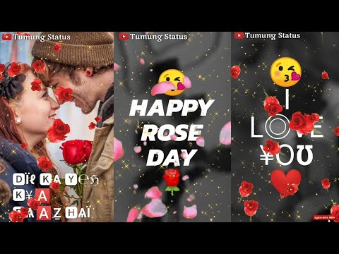 7 February, Rose Day Special Full Screen Whatsapp Status Video ||Romantic Love Feeling Status | Swag Video Status