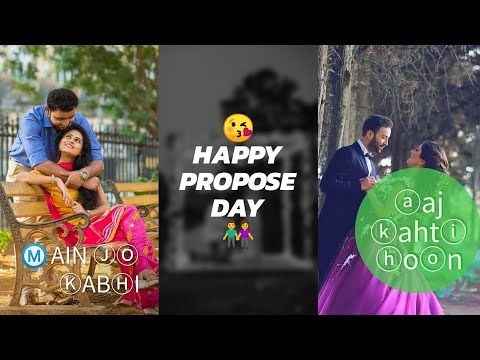 8 February, Propose Day Special Full Screen Whatsapp Status Video ||Romantic Love Feeling Status | Swag Video Status