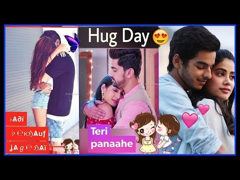Teri Bahon Ka | 12 Feb 2019 - HAPPY HUG DAY Whatsapp status video || Valentine's Week Special | Swag Video Status