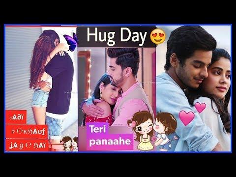 Teri Bahon Ka | 12 Feb 2019 - HAPPY HUG DAY Whatsapp status video || Valentine's Week Special | Swag Video Status