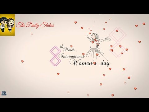 Happy Women's day 2019 Whatsapp status video - Roja song flute | Swag Video Status