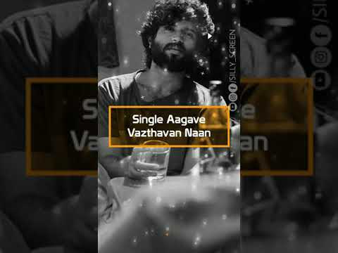 Single Aaga Piranthavan Naane | Single's album song status | Tamil full screen WhatsApp status | Swag Video Status