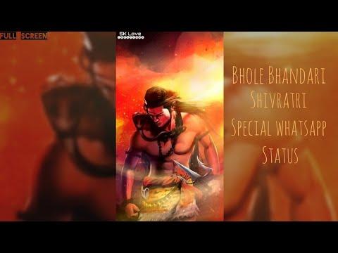 Bhole Bhandari || Special Maha Shivratri - Whatsapp Status || shiv sankar FullScreen status | Swag Video Status