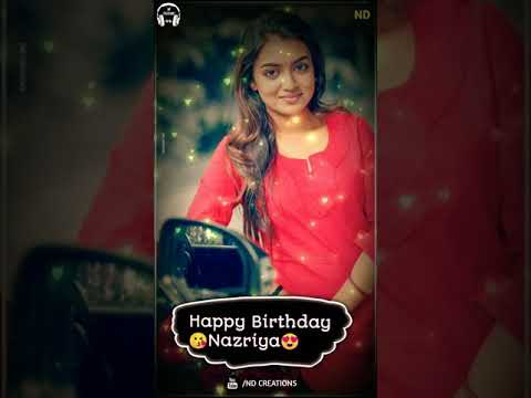 Whatsapp Status Tamil Video❤️Happy Birthday Nazriya❤️Nazriya Cute ❤️Full Screen video | Swag Video Status