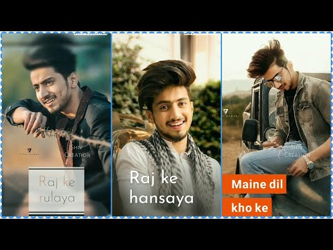 Raj Ke Rulaya | Heart touching Sad Full Screen Whatsapp Status Male Version | Sad Female song Full Screen Status | Swag Video Status