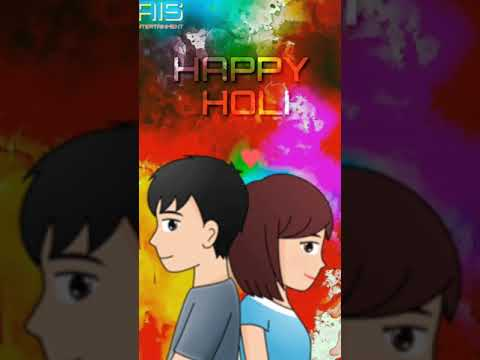 Holiya Ma Ude Re Gulal | holi animated full screen whatsapp status in hd | Swag Video Status