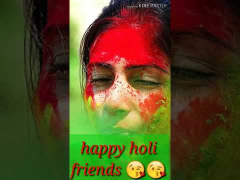 Holi special full screen Whtsapp status video 😍happy holi friends😘new holi song,dont mind holi h😂 Swag Video Status