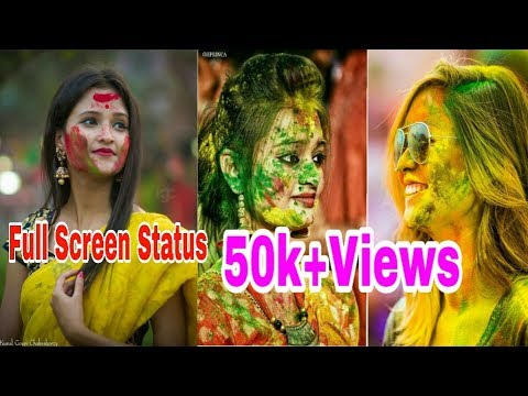 Rang Bata Blue Ya Lal | Holi Special Mashup Full Screen Whatsapp Status 2019 | Swag Video Status