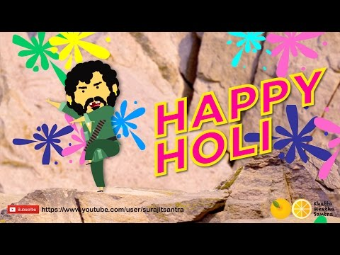 Holi wishes 2019 | Holi Celebration - Sholay Style | Holi wishes for whatsapp status | Swag Video Status