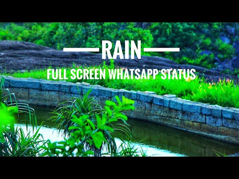 Rain Full Screen Whatsapp Status | മഴ 🏝️🌧️🌨️Swag Video Status