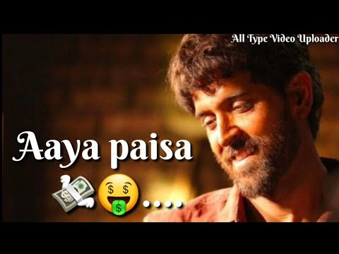 Paisa song new WhatsApp status |Hrithik roshan | Swag Video Status