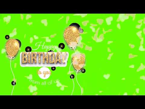 Happy birthday Gold green screen effect HD | Swag Video Status