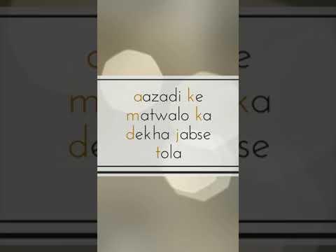 Azadi ke matwalo ka dekha jabse   Deshbhakti full screen status   Swag Video Status
