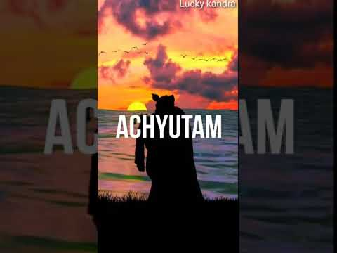 Full screen WhatsApp status Krishna Janmashtami special achyutam keshavam Krishna Damodaram | Swag Video Status