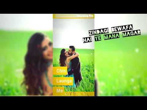 Zindagi Bewafa Full Screen Status | Sad Full Screen Status | Swag Video Status