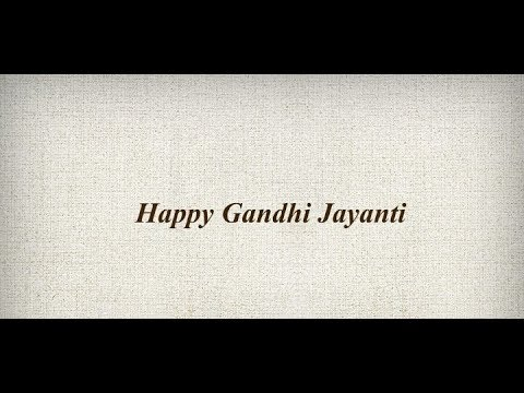 Happy Gandhi jayanti 2018 Status | WhatsApp status video | Swag Video Status